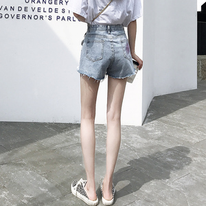 牛仔夏季高腰宽松显瘦a字潮短裤