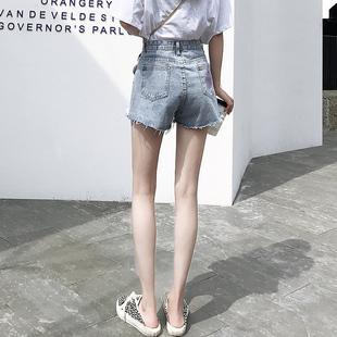 牛仔短裤女夏季薄款高腰宽松显瘦a字潮ins阔腿韩版2020年新款热裤价格
