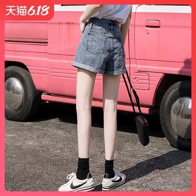 牛仔短褲女夏高腰寬松闊腿夏季薄款顯瘦a字百搭韓版學生2020新款