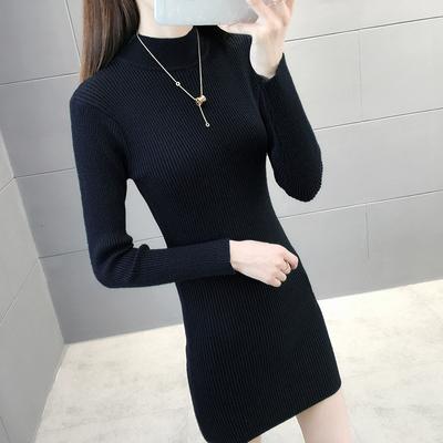 半高领黑色毛衣女秋冬装2020新款行风修身洋气内搭长袖针织打底衫