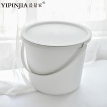 益品家带盖塑料水桶家用宿舍洗衣桶手提储水桶加厚圆桶洗脸盆套装