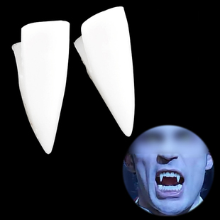 TFBC White Dragula Fangs Caps Teeth Fancy Dress Halloween Pa
