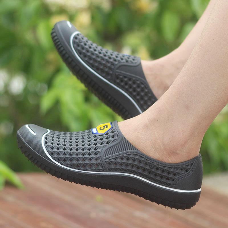 夏季新款韩版洞洞鞋镂空男士个性包头学生凉鞋潮流沙滩鞋防滑百搭