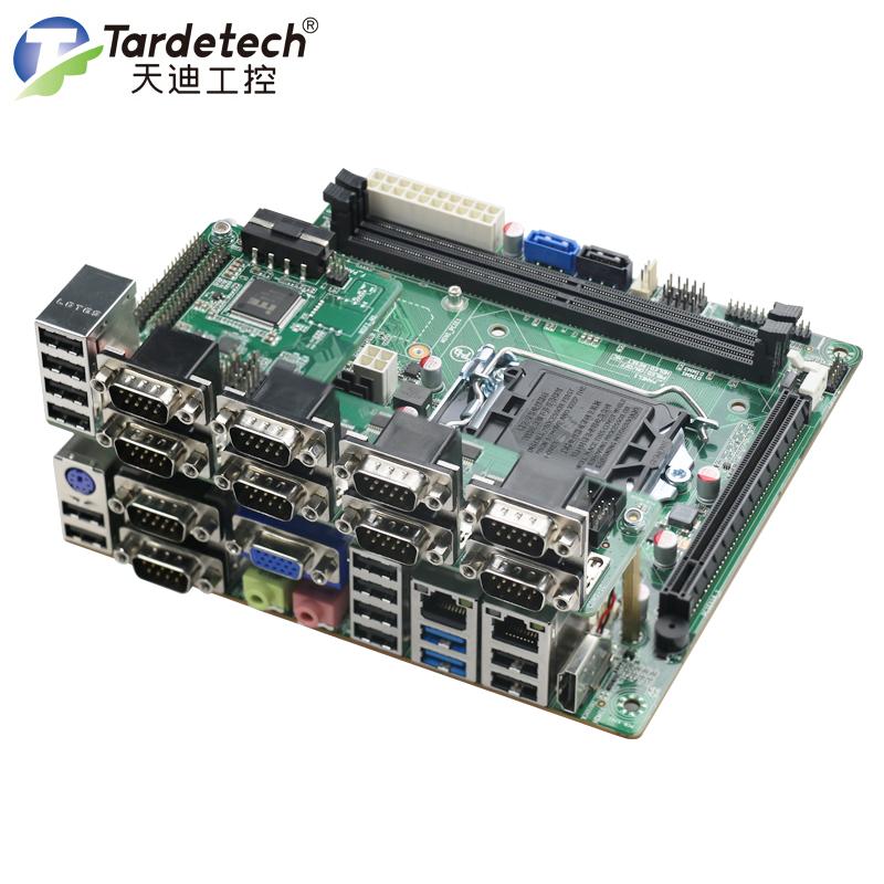 多功能工业控制主板ITX-3743/3793酷睿4代6代7代10串口12USB自动化设备应用