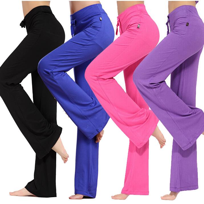莫代尔舞蹈瑜伽运动健身新款直筒长裤女士宽松微喇叭修身显瘦包邮