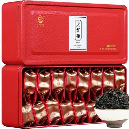大红袍茶叶礼盒装武夷山大红袍浓香型乌龙茶袋装雅鑫苑茶叶128克