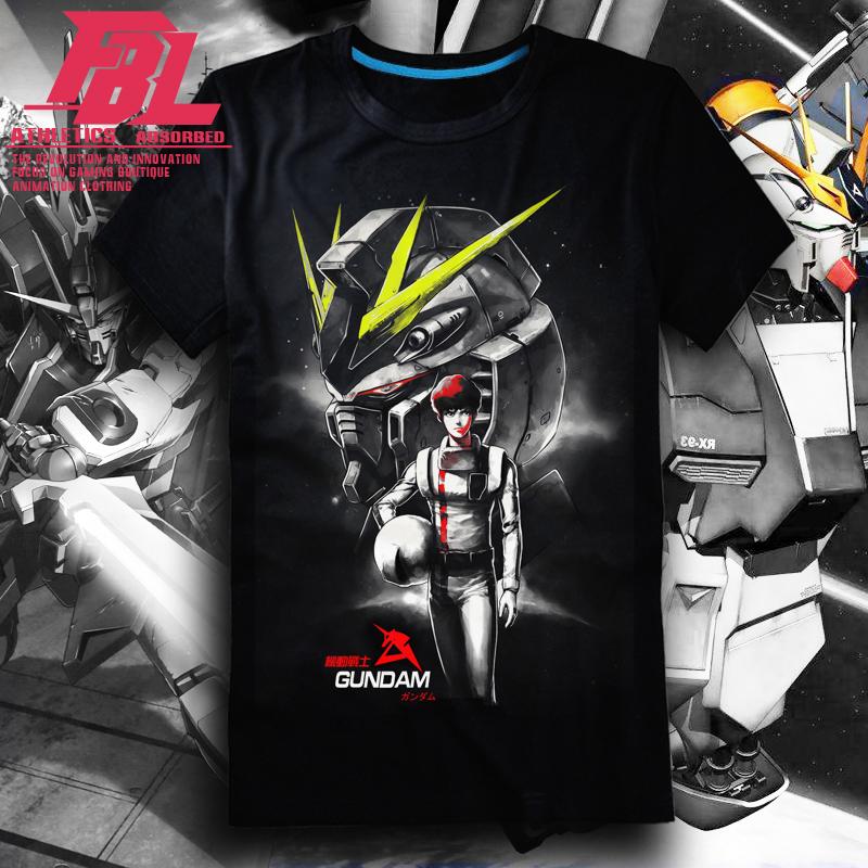 福霸狼2020夏季Gundam RX78-2元祖高达T恤男短袖纯棉周边动画衣服
