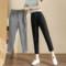 西装裤女九分裤2021年春秋冬新款八分烟管裤休闲宽松毛呢裤哈伦裤