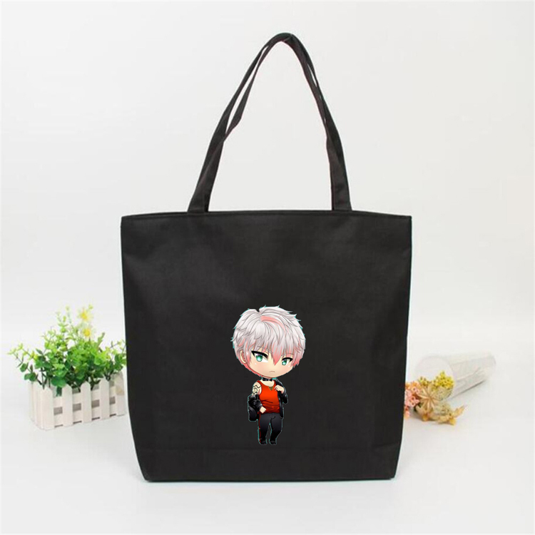 Mysterious messenger Shopping Bag Canvas Handbag student shoulder bag cotton women shopping bag environmental protection customized simple bag