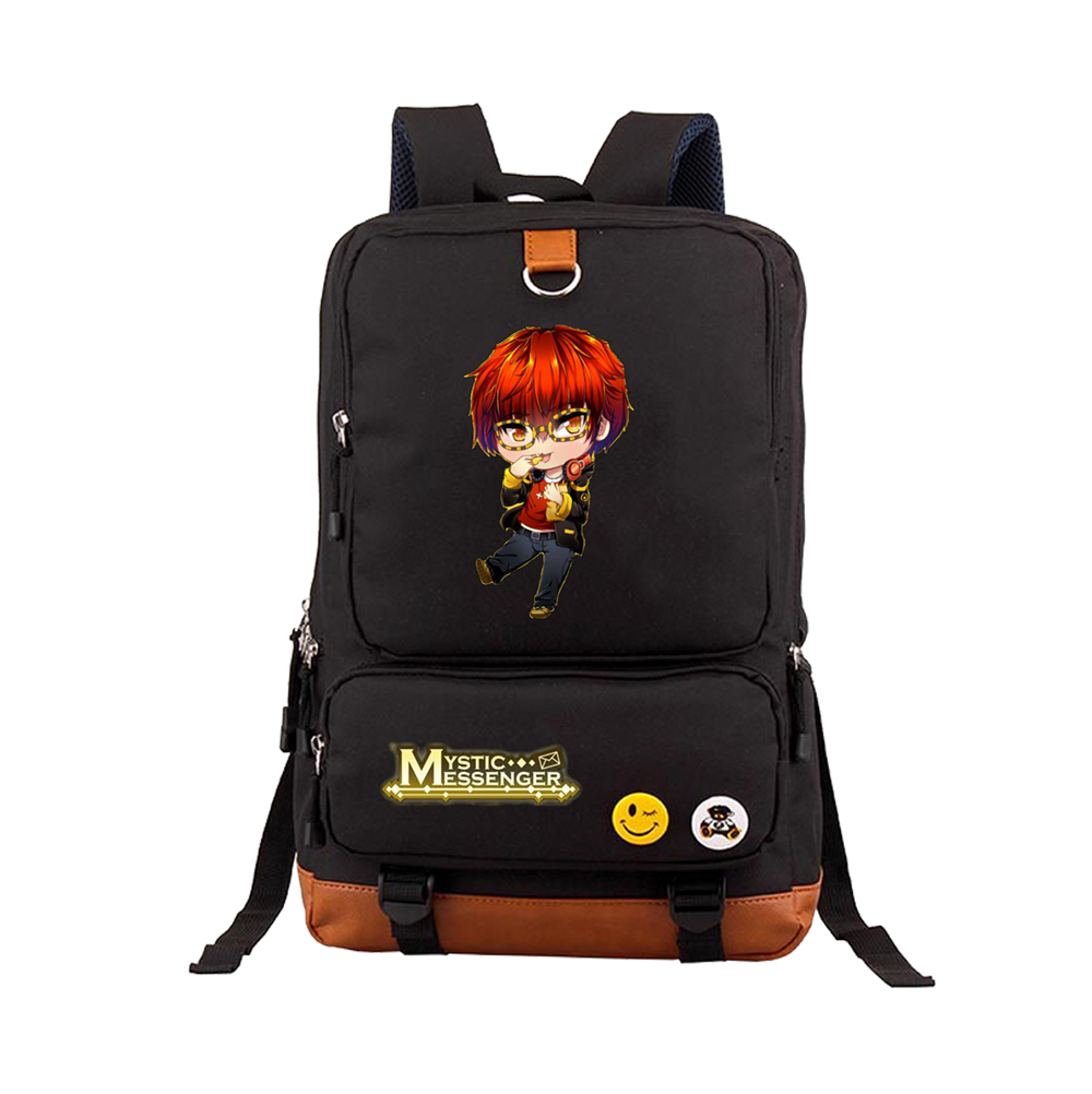 Mysterious messenger animation peripheral schoolbag Student Backpack computer backpack natz Backpack