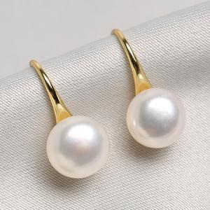 天然淡水真珍珠耳环女925纯银饰品2019新款潮气质高级感耳钉耳坠