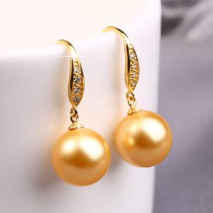 天然珍珠耳环女925纯银饰品2019新款潮长款耳坠气质网红正品耳钉