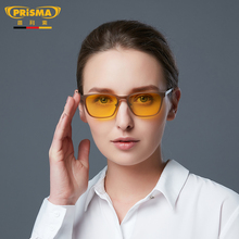 German Prisma Anti-Blu-ray Computer Mobile Phone Glasses Women Anti-fatigue Blu-ray Glasses Flat-eye Protectors