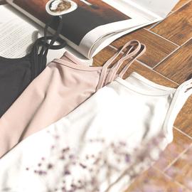 吊带背心女夏外穿内搭纯棉打底衫黑色无袖t恤百搭短款韩版修身潮图片