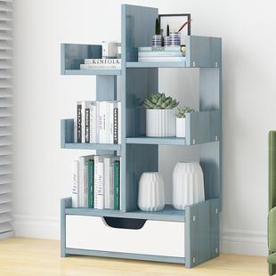 书架置物架落地简约创意家用学生客厅省空间收纳架经济型简易书柜图片