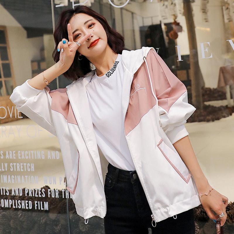 短款外套女士2020春秋季新款韩版宽松风衣学生运动休闲百搭薄款夏图片