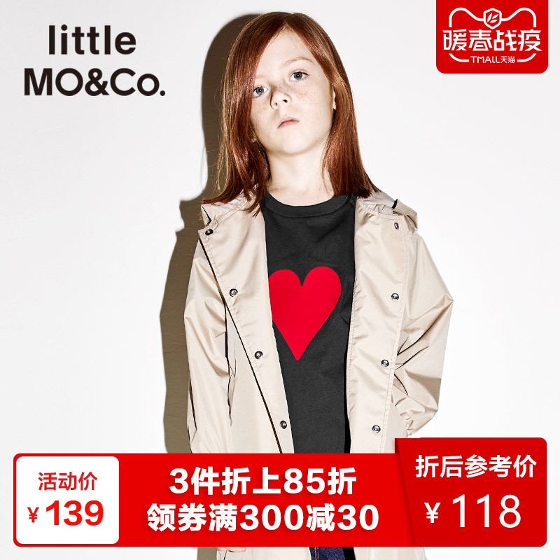 Littlemoco Summer Dress for Children T-shirt Poker Card A All-cotton T-shirt for boys and girls with round collar and short sleeves