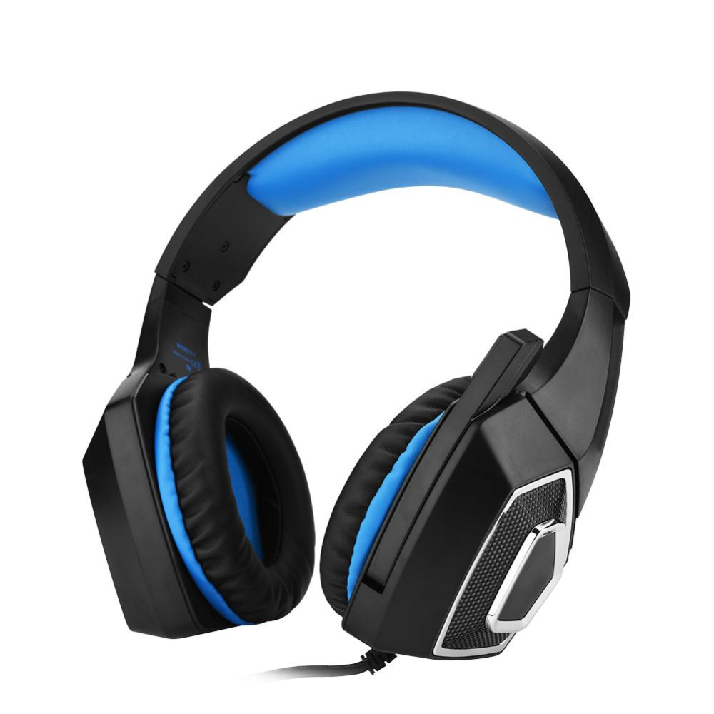 Stereo Gaming Headset Soft Leather Earmuffs Comfortable Wear