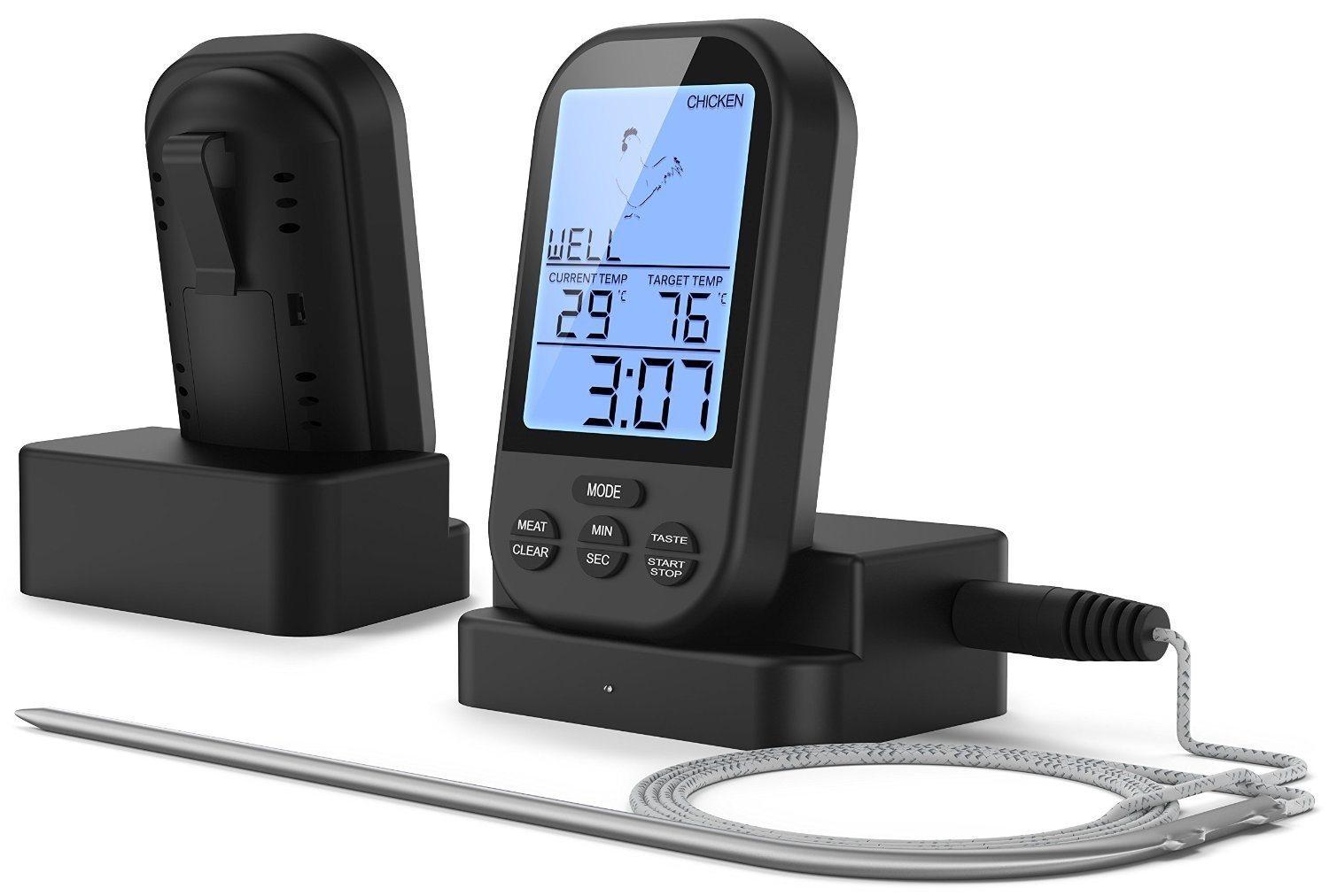 New wireless barbecue thermometer 无线烧烤温度计食品