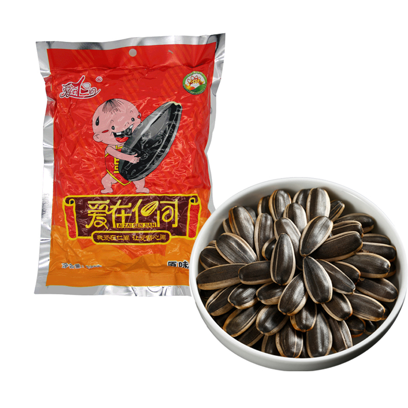 Love in Renjian Inner Mongolia original melon seeds 238G bagged large granule sunflower seed fried specialty nuts leisure snacks