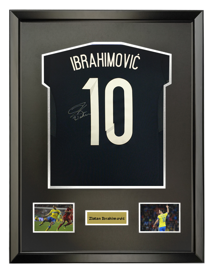 IBU 2014 Sweden national team away signature soccer jersey with SA certificate framed
