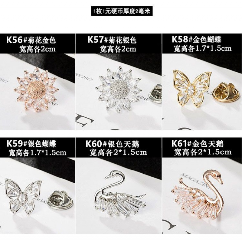 Light proof buckle pin neckline decoration Lovely Japanese cardigan fixed clothes small Brooch sweater pin female collar pin