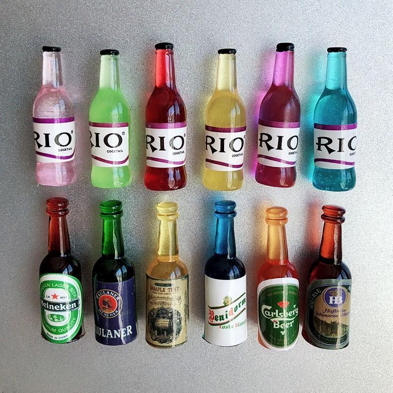 仿真迷你创意啤酒开瓶器起子冰箱贴磁贴强力磁铁家居小装饰品启子