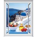 风景假窗户贴画防水自粘创意假窗墙贴纸装饰客厅沙发宿舍背景卧室