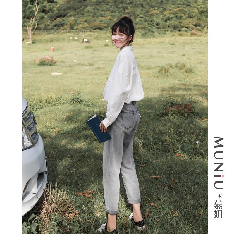 设计感小众长袖宽松百搭棉质衬衣2019秋新品韩版学生白衬衫女上衣
