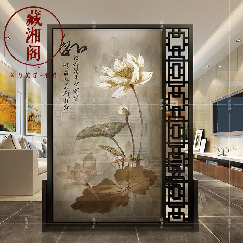 Новый китайский стиль экран отрезать гостиная классическая мода вход дерево пирсинг офис комната сиденье экран простой спальня мобильный