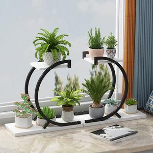 花架子铁艺特价阳台落地式客厅简约现代室内外绿萝架花盆架置物架