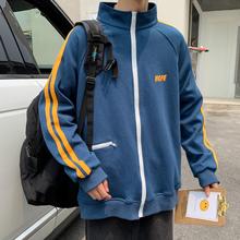 韩版潮流上衣2019秋冬季新款休闲夹克ins运动卫衣潮牌港风外套男