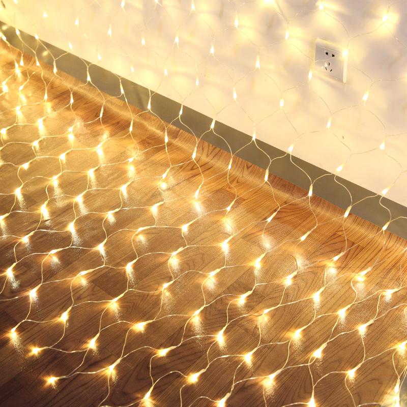 24V彩灯闪灯串灯满天星灯渔网灯户外防水房间卧室布置装饰星星灯