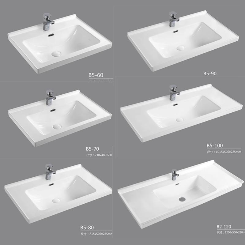 券后258.00元半嵌入式卫生间陶瓷台面浴室柜台盆