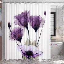 卫生间浴帘套装免打孔浴室隔断帘防水加厚门帘窗帘淋浴涤纶挂帘子