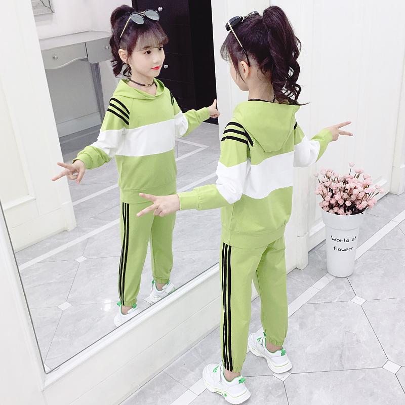 女童秋装套装2019新款韩版童装洋气女孩网红春秋季儿童大童两件套