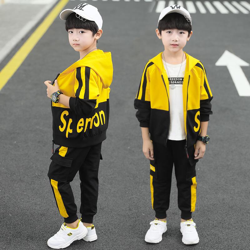 儿童装男童秋装套装2020新款男孩中大童韩版春款洋气运动两件套潮