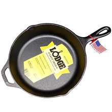 L8SK3, a 26 cm uncoated frying pan with non-sticky frying pan, imported from LodgeRock, USA