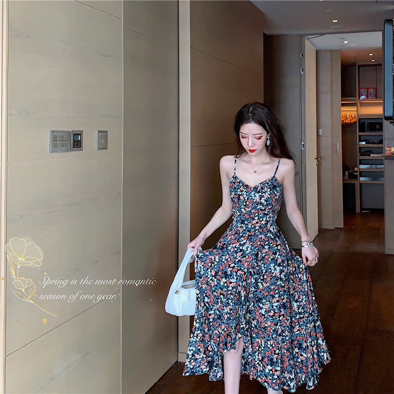 charming appearance and personality. Original quality. Dress long skirt summer beach Sanya thailand tourism resort