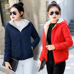 羊羔毛棉衣女短款2020新款秋冬季棉袄面包服加绒加厚女装棉服外套