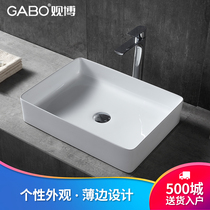 Watching the table Basin Square ceramic basin art basin 10400 bathroom wash basin basin wash basin Household
