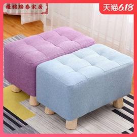办公室放腿凳美式茶几板凳简约矮凳午睡放脚午休垫脚凳沙发凳图片