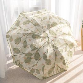 双层蕾丝太阳伞防晒防紫外线网纱绣花女黑胶遮阳晴雨两用三折雨伞