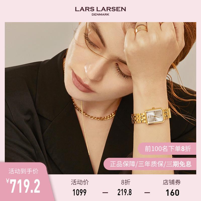 LARSLARSEN复古小方表 拉尔森手表女小众轻奢ins简约气质腕表