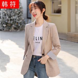 休闲西装外套女设计感小众2021春秋韩版黑色小个子百搭短款薄西服