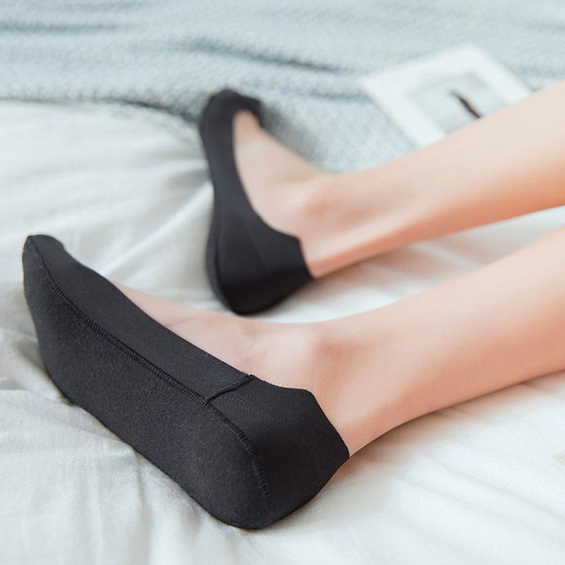 Socks boat socks womens cotton shallow mouth invisible thin Korean womens Silicone non slip summer Korean low top floor socks tide