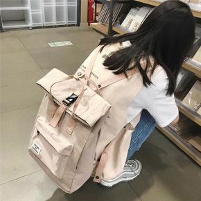 日版古着感少女书包女 双肩包学生韩国校园森系学院风ins百搭背包