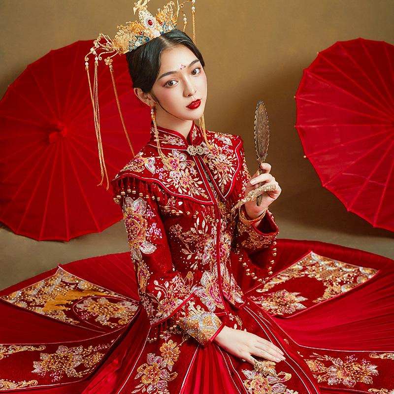 秀禾服2020新款结婚出嫁中式新娘服