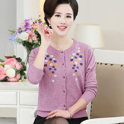 中年女春装薄款外套2019新款妈妈洋气高贵小衫适合45岁女人的衣服