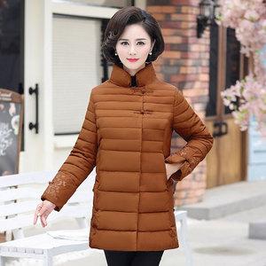 40-50歲中年媽媽裝冬裝新款外套中老年女裝冬季時尚保暖加絨棉衣